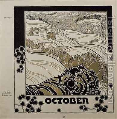October by Adolf Bohm - Reproduction Oil Painting