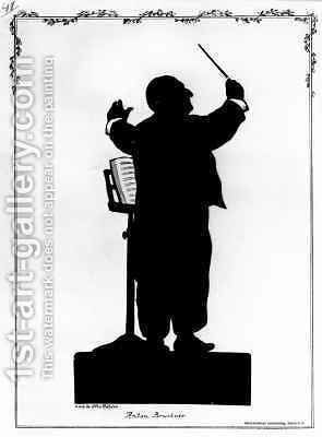 Silhouette of Anton Bruckner (1824-96) Austrian composer, conducting by (after) Bohler, Otto - Reproduction Oil Painting