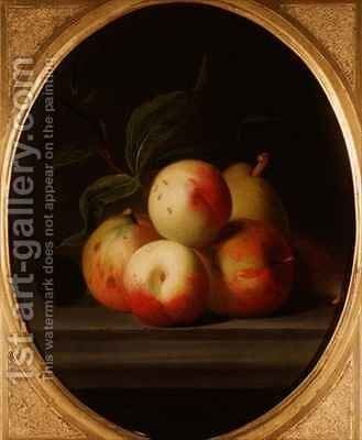 Apples on a Shelf by (after) Boggi, Giovanni - Reproduction Oil Painting