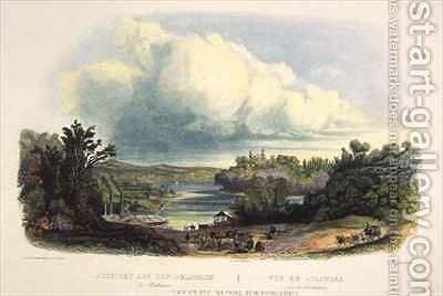 View on the Delaware near Bordentown by (after) Bodmer, Karl - Reproduction Oil Painting