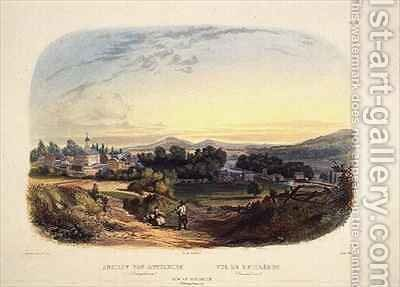 View of Bethlehem, Pennsylvania by (after) Bodmer, Karl - Reproduction Oil Painting