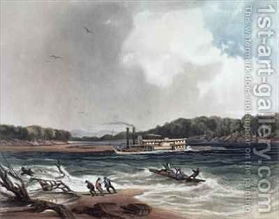 The Steamer Yellow-Stone on the 19th April 1833 by (after) Bodmer, Karl - Reproduction Oil Painting