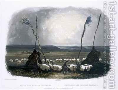 Offering of the Mandan Indians by (after) Bodmer, Karl - Reproduction Oil Painting