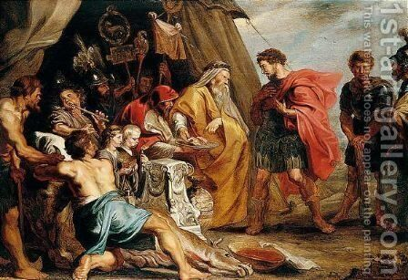 The Reading Of The Auguries by (after) Sir Peter Paul Rubens - Reproduction Oil Painting