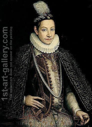 Portrait Of Carlo Emanuele I (1562 - 1630), Duke Of Savoy by (after) Jan Kraeck (Giovanni Caracca) - Reproduction Oil Painting