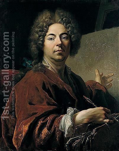 Portrait Of The Artist, Aged 55 by (after) Nicolas De Largillierre - Reproduction Oil Painting