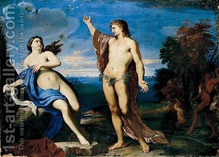 Bacchus And Ariadne by Carlo Maratta or Maratti - Reproduction Oil Painting