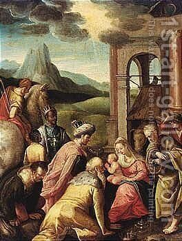 The Adoration Of The Magi 2 by Antwerp School - Reproduction Oil Painting