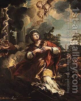 Saint Martina Refuses To Adore The Idols by (after) Cortona, Pietro da (Berrettini) - Reproduction Oil Painting