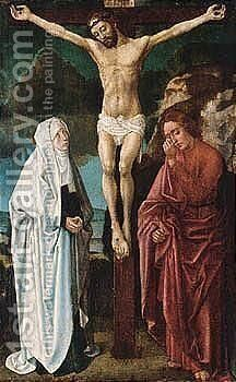 The Crucifixion by South Netherlandish School - Reproduction Oil Painting