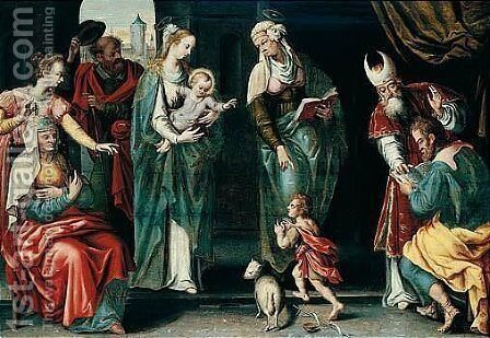 The Holy Kinship by (after) Maarten De Vos - Reproduction Oil Painting