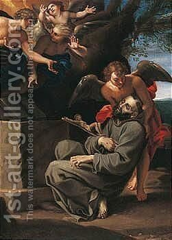 The Ecstasy Of Saint Francis by Annibale Carracci - Reproduction Oil Painting