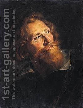 Portrait Of A Bearded Man, Head And Shoulders, Wearing Black by (after) Sir Peter Paul Rubens - Reproduction Oil Painting