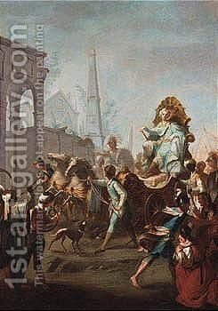 The Triumphal Entry Of Alexander The Great Into Babylon by South German School - Reproduction Oil Painting