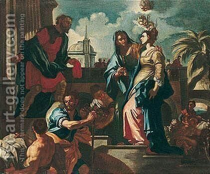 The Visitation by (after) Francesco Solimena - Reproduction Oil Painting