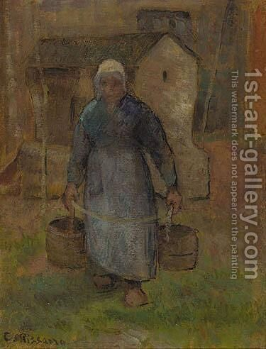La Femme Au Puits by Camille Pissarro - Reproduction Oil Painting