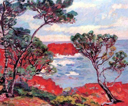 Agay, Les Rochers Rouges by Armand Guillaumin - Reproduction Oil Painting