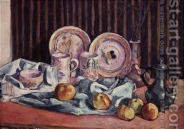 Nature Morte Aux Pommes Et Compotiers by Emile Bernard - Reproduction Oil Painting