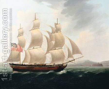 Off The Coast by (after) George Chambers - Reproduction Oil Painting