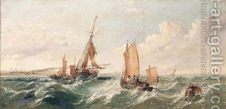 Shipping Off The Coast Of Dover by Arthur Joseph Meadows - Reproduction Oil Painting