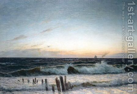 Rollers At Sunset by Holger Lubbers - Reproduction Oil Painting