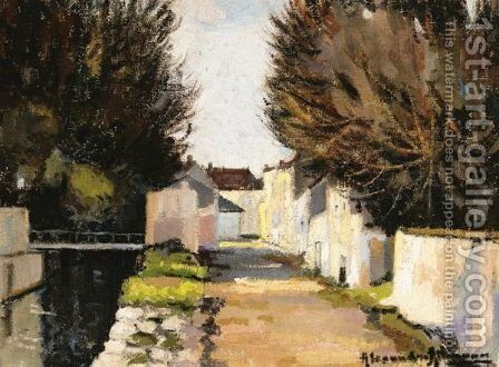 By The Canal by Alexander Altmann - Reproduction Oil Painting