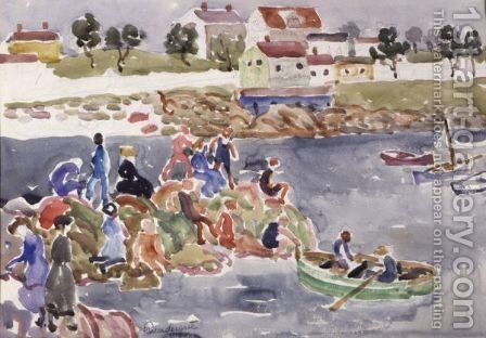 The Cove 2 by Maurice Brazil Prendergast - Reproduction Oil Painting
