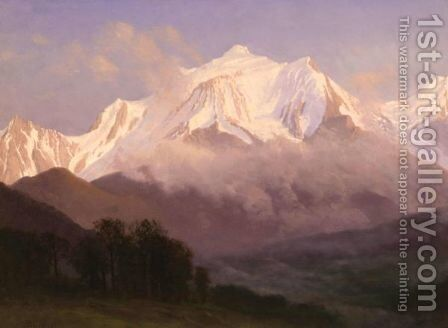 Grand Tetons by Albert Bierstadt - Reproduction Oil Painting
