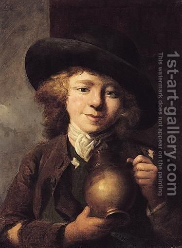 A Boy With A Pitcher by Nathaniel Hone - Reproduction Oil Painting