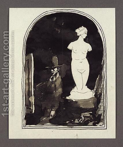 Myself And Venus by Sir William Newenham Montague Orpen - Reproduction Oil Painting