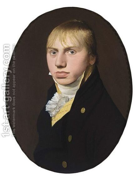 A Portrait Of A Young Man, Bust Length, Wearing A Yellow Coat With A Black Overcoat And White Chemise by Aldert Jacobsz. Van Der Poort - Reproduction Oil Painting