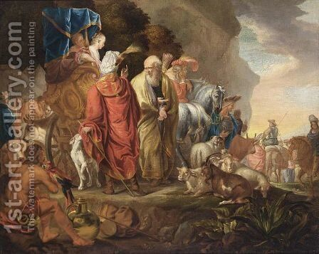 The Leave-Taking Of The Families Of Lot And Abraham by Haarlem School - Reproduction Oil Painting