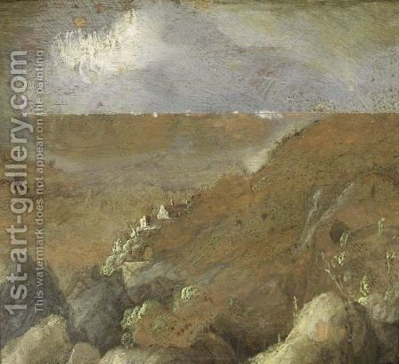 A Mountainous Landscape With A Village by (after) Hercules Seghers - Reproduction Oil Painting