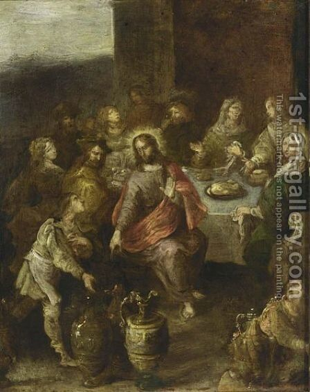 The Marriage At Cana 3 by (after) Frans II Francken - Reproduction Oil Painting