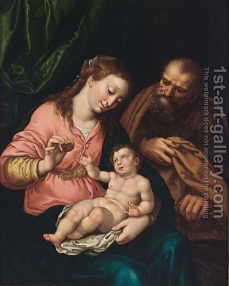 The Holy Family by Antwerp School - Reproduction Oil Painting