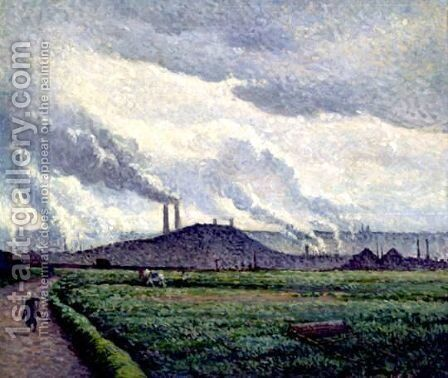 Charleroi, Paysage A Couillet by Maximilien Luce - Reproduction Oil Painting