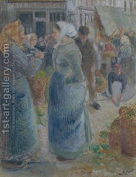 Le Marche by Camille Pissarro - Reproduction Oil Painting