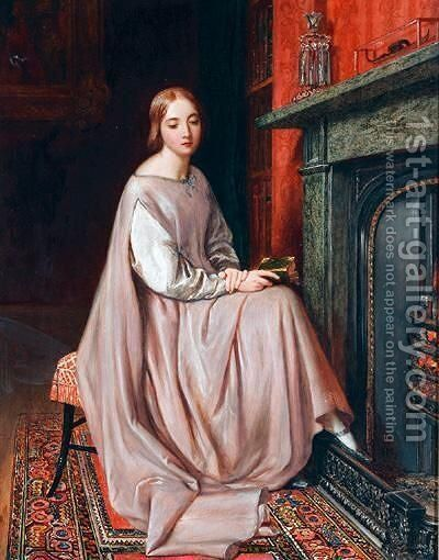 Fireside Thoughts by Charles West Cope - Reproduction Oil Painting