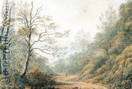 Near Fairlight, Hastings by (after) John Glover - Reproduction Oil Painting