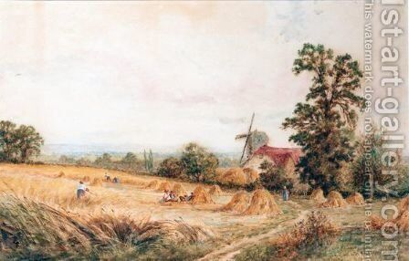 A View Near Henfield Sussex by Henry John Kinnaird - Reproduction Oil Painting