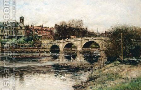 The Highway Into Richmond by Arthur George Bell - Reproduction Oil Painting