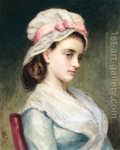 Portrait Of A Girl by Charles Sillem Lidderdale - Reproduction Oil Painting