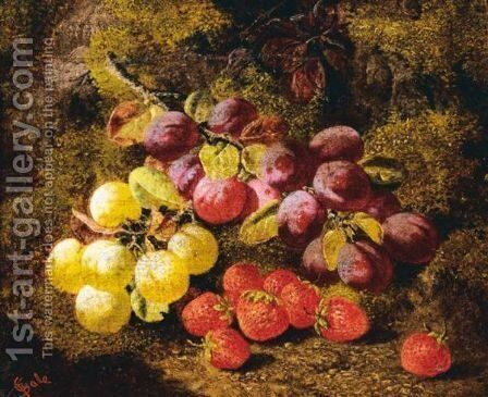 Still Life Of Fruit by Charles Thomas Bale - Reproduction Oil Painting