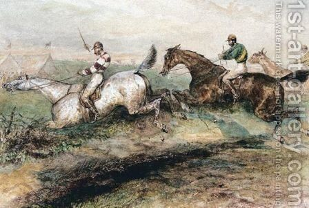 Over The Fence by (after) Samuel Henry Gordon Alken - Reproduction Oil Painting