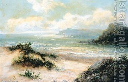 Beach Scene by Henry Cooper - Reproduction Oil Painting