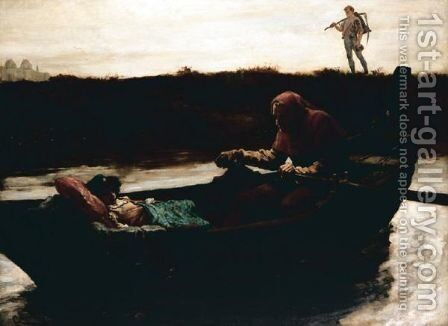 The Boatman by Gordon Frederick Browne - Reproduction Oil Painting