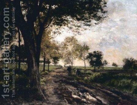 The Country Trail by Continental School - Reproduction Oil Painting