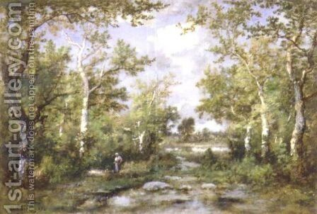 A Walk In The Woods by Narcisse-Virgile Díaz de la Peña - Reproduction Oil Painting