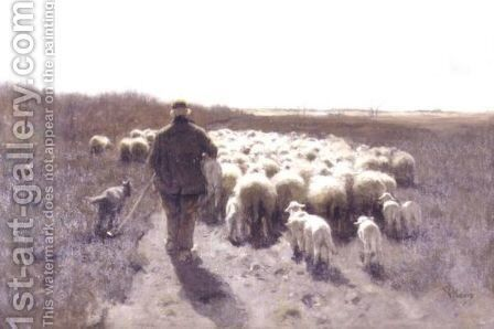 Return Of The Flock by Anton Mauve - Reproduction Oil Painting