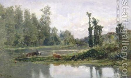 Bord De Riviere 2 by Charles-Francois Daubigny - Reproduction Oil Painting